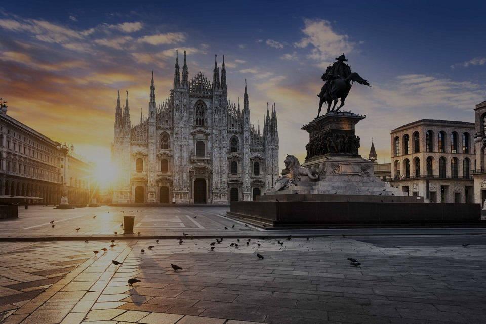 Milan , the luxury real estate area in Italy
