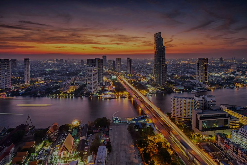 Bangkok, the luxury real estate area in Thailand